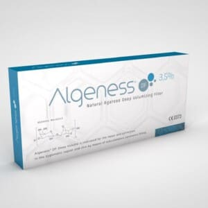Дермальный наполнитель ALGENESS DF (3.5% AGAROSE + 0.4% NON-CROSSED-LINKED HA) DEEP VOLUMIZER