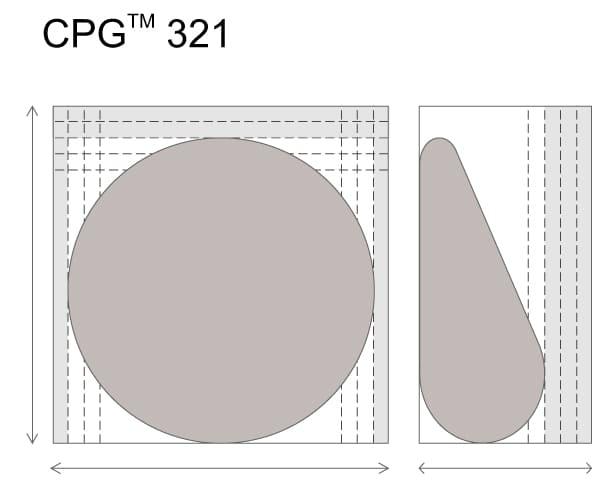 Анатомические импланты для увеличения груди Mentor CPG 321. Средняя высота. Cредняя проекция