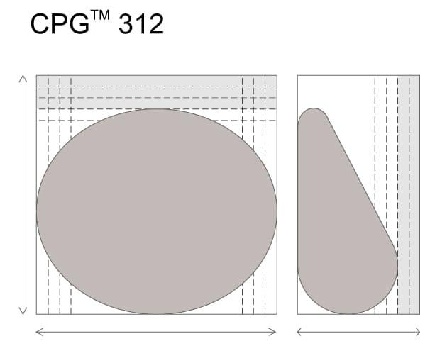 Анатомические импланты для увеличения груди Mentor CPG 312. Малая высота. Cредняя PLUS проекция