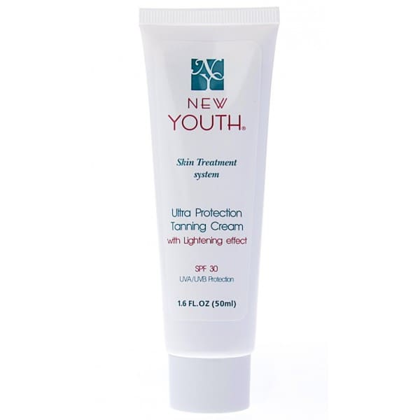 (RU) Крем сверхзащитный тонирующий SPF-30 NEW YOUTH Ultra Protection Tanning Cream with Lightening Effect SPF-30