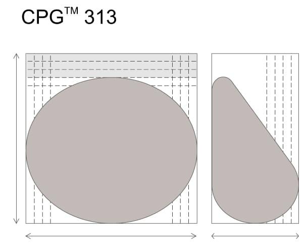 Анатомические импланты для увеличения груди Mentor CPG 313. Малая высота. Высокая проекция