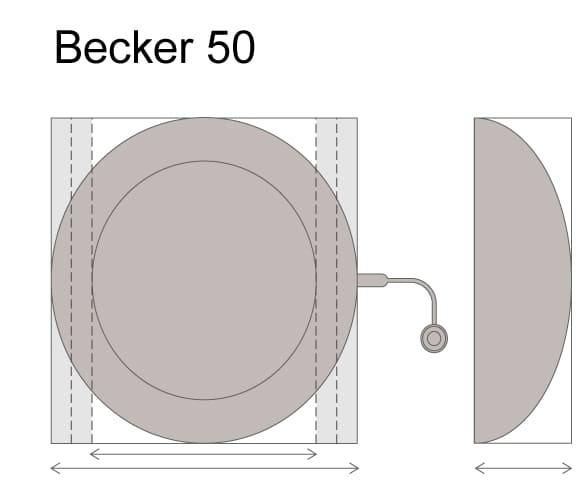 Круглые имплантаты-эспандеры  Mentor Becker 50 с текстурированной оболочкой Siltex, заполненные гелем Когезив l