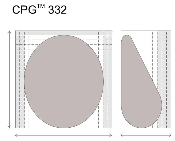(RU) Анатомические импланты для увеличения груди Mentor CPG 332.Большая высота. Cредняя плюс проекция