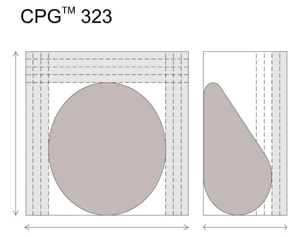 Анатомические импланты для увеличения груди Mentor CPG 323. Средняя высота. Высокая проекция